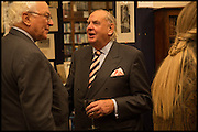 SIR EVELYN DE ROTHSCHILD; SIMON WARD; , Book party for 'The Liar's Ball' by Vicky Ward hosted by  Sir Evelyn  de Rothschild at Henry Sotheran's, 2 Sackville Street London. 25 November 2014