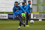 Forest Green Rovers Tahvon Campbell(25) warming up during the EFL Sky Bet League 2 match between Forest Green Rovers and Mansfield Town at the New Lawn, Forest Green, United Kingdom on 24 March 2018. Picture by Shane Healey.