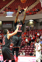 08 November 2015: Nick Banyard(0) reaches for a rebound with both hands. Illinois State Redbirds host the Southern Indiana Screaming Eagles and beat them 88-81 in an exhibition game at Redbird Arena in Normal Illinois (Photo by Alan Look)