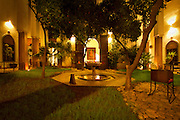In the heart of the Medina of Fez, Riad Laaroussa offer fine service and a luxurious experience in its elegant 17th-century palace, oozing character, style and a unique relaxed atmosphere. The Riad or boutique hotel has four vast suites and four rooms which all surround a tranquil courtyard where you may relax in the shade of the orange trees...The traditional Riad boasts an exceptional terrace with its lounging areas and refreshing shower, from which you can appreciate the breathtaking view over Fez's medina and impressive landscapes.. By summer, a perfect terrace chill out and by winter, the perfect boutique hotel to get cozy in by one of the many fireplaces in one of the Riad's suites or salons...Laaroussa Riad also offers its guests a fine dining experience in either the courtyard or the terrace where guests are invited to savour the legendary Fassi cuisine.