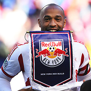 Thierry Henry, New York Red Bulls, before what could be his final game at Red Bull Arena during the New York Red Bulls Vs Columbus Crew, Major League Soccer regular season match at Red Bull Arena, Harrison, New Jersey. USA. 19th October 2014. Photo Tim Clayton