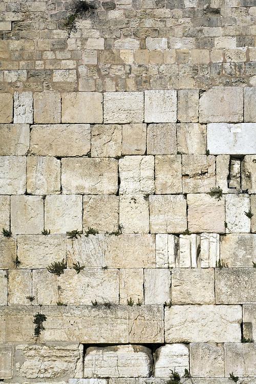 Detail of  the Western ('Wailing') Wall, Jerusalem, Israel
