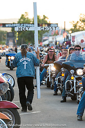 Main Street on Saturday at the Sturgis Black Hills Rally. Sturgis, SD, USA. August 2, 2014.  Photography ©2014 Michael Lichter.