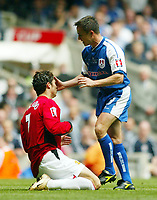Photo: SBI/Digitalsport<br /> NORWAY ONLY<br /> <br /> Manchester United v Millwall. FA Cup Final. 22/05/2004.<br /> Dennis Wise gets to grips with Christiano Ronaldo
