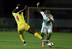 June 6, 2017 - Blida, Algiers, Algeria - Algerian's Yacine Brahimi (R) vies with Guinée's forward Traore Ibrahima (L) during their friendly international football match between Algeria and Guinée at Mustapha Tchaker stadium in Blida on June 06, 2017. (Credit Image: © Billal Bensalem/NurPhoto via ZUMA Press)