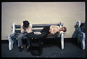 Resting, . Just outside Butlins Holiday Camp, Minehead, Somerset. Summer 1979.<br /> 10 x 7 inches C print.