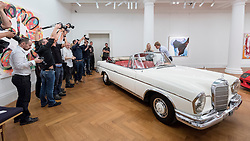 © Licensed to London News Pictures. 12/08/2016. London, UK. Media photograph James Mason's Mercedes-Benz 300 SE Cabriolet, purchased from new by the great British actor (est. GBP 150,000 - 250,000), at the photocall for classic cars at Sotheby's, New Bond Street, ahead of their auction on 7 September in Battersea Park. Photo credit : Stephen Chung/LNP