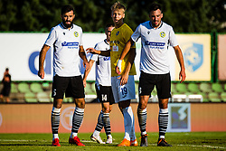 Rok Kidric of NK Bravo and Denis Cerovec  of NK Koper with Ivan Balta of NK Koper during football match between NK Bravo and NK Koper in 4th Round of Prva liga Telekom Slovenije 2020/21, on September 19, 2020 in Sport park ZAK, Ljubljana, Slovenia. Photo by Grega Valancic / Sportida