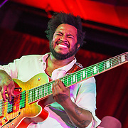 WASHINGTON, DC - June 13, 2015 - Thundercat performs at the Hecht Warehouse as part of the DC Jazz Festival.  Thundercat has released two solo albums as well as working with artists such as Kendrick Lamar, Erykah Badu and Flying Lotus. (Photo by Kyle Gustafson / For The Washington Post)