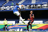 Everton forward Moise Kean (27) heads on goal during the Premier League match between Everton and Bournemouth at Goodison Park, Liverpool, England on 26 July 2020.