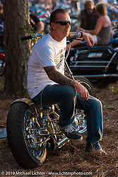 Jeff Cochran with his latest build on Saturday at the Smokeout. Rockingham, NC. USA. June 20, 2015.  Photography ©2015 Michael Lichter.