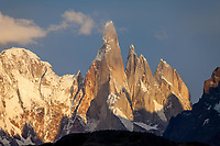 MACIZO DEL CERRO TORRE (3.130 m.s.n.m.) AL AMANECER, PARQUE NACIONAL LOS GLACIARES, PROVINCIA DE SANTA CRUZ, PATAGONIA, ARGENTINA (PHOTO © MARCO GUOLI - ALL RIGHTS RESERVED)
