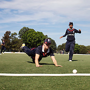 Lydia Greenway can't stop a New Zealand boundary during the match between England and New Zealand in the Super 6 stage of the ICC Women's World Cup Cricket tournament at Bankstown Oval, Sydney, Australia on March 14 2009, England won the match by 31 runs. Photo Tim Clayton