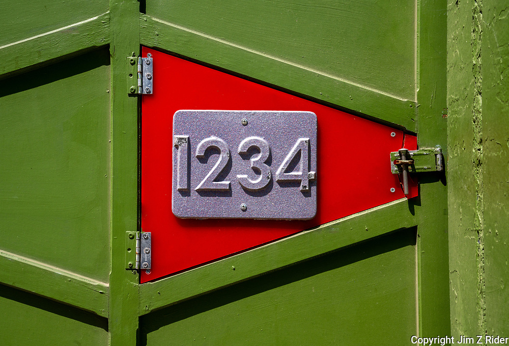 An address that's easy to remember on a colorful entrance to courtyard apartments in Fishtown, a neighborhood of Philadelphia, PA.