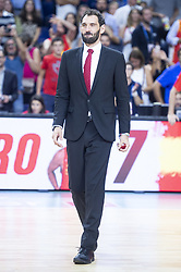 September 17, 2018 - Madrid, Spain - Jorge Garbajosa during the FIBA Basketball World Cup Qualifier match Spain against Latvia at Wizink Center in Madrid, Spain. September 17, 2018. (Credit Image: © Coolmedia/NurPhoto/ZUMA Press)