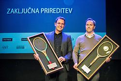 Denis Topcic and Jaka Dolenc at Slovenian Tennis personality of the year 2016 annual awards presented by Slovene Tennis Association Tenis Slovenija, on December 7, 2016 in Siti Teater, Ljubljana, Slovenia. Photo by Vid Ponikvar / Sportida