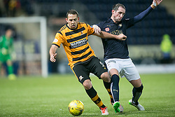 Alloa Athletic's Michael Chopra and Falkirk's Mark Kerr. <br /> Falkirk 5 v 0 Alloa Athletic, Scottish Championship game played at The Falkirk Stadium.