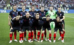 July 11, 2018 - Moscou, Rússia - MOSCOU, MO - 11.07.2018: ENGLAND VS CROATIA - Croatian players in left to right, Dejan LOVREN, Ivan STRINIC, Mario MANDZUKIC, Ante REBIC, Danijel SUBASIC and Ivan PERISIC. Marcelo BROZOVIC, Domagoj VIDA, Ivan RAKITIC, Sime VRSALJKO and Luka MODRIC of Croatian during the match between England and Croatia, secured by the semi-finals of the 2018 World Cup held in Est. gave Luzhniki in Moscow, Russia. (Credit Image: © Rodolfo Buhrer/Fotoarena via ZUMA Press)