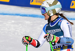 15.02.2021, Cortina, ITA, FIS Weltmeisterschaften Ski Alpin, Alpine Kombination, Damen, Super G, im Bild Priska Nufer (SUI) // Priska Nufer of Switzerland reacts after the Super G competition for the women's alpine combined of FIS Alpine Ski World Championships 2021 in Cortina, Italy on 2021/02/15. EXPA Pictures © 2021, PhotoCredit: EXPA/ Erich Spiess