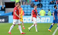 Fotball <br /> UEFA Euro 2016 Qualifying Competition<br /> 12.06.2015<br /> Norge v Aserbajdsjan / Norway v Aserbajdsjan 0:0<br /> Foto: Morten Olsen/Digitalsport<br /> <br /> Alexander Søderlund (L) og Tom Høgli - NOR