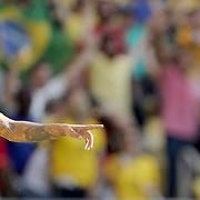 Football - Olympics: Day 12   Marquinhos #4 of Brazil celebrates with Neymar #10 of Brazil after scoring during the Brazil Vs Honduras Men's Semifinal match at Maracana Stadium on August 17, 2016 in Rio de Janeiro, Brazil. (Photo by Tim Clayton/Corbis via Getty Images)