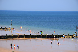 Sheringham, Norfolk, on one of the hottest days of the summer, July 2016, UK