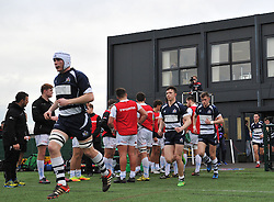 Bristol players run out at SGS Wise Campus - Mandatory by-line: Paul Knight/JMP - 07/01/2017 - RUGBY - SGS Wise Campus - Bristol, England - Bristol Academy U18 v Exeter Chiefs U18 - Premiership U18 League