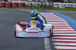 December 15, 2017 - Brazil - COTIA, SP - 15.12.2017: 500 MILHAS DE KART 2017 - On Thursday (14), free practice began, and today (15) the official training sessions of the most traditional Brazilian kartism will take place this Saturday (16) with more than 70 teams in search of victory, bringing together the biggest names in world motorsport of the most diverse categories like Formula 1, Indy, GP2, F3, StockCar, Formula Truck, MotoGP and the Kart. There are 12 hours of competition between teams competing in karts with prepared 4-stroke Honda engines. In the photo the pilot Gustavo Ariel, winner of the Selective Grand Prix Cup. (Credit Image: © Fotoarena via ZUMA Press)