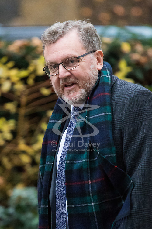 London, December 05 2017. Scotland Secretary David Mundell arrives at 10 Downing Street to attend the weekly cabinet meeting. © Paul Davey