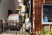 very rusty parked van Yokosuka Japan