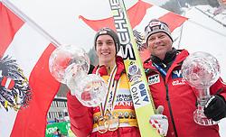 24.03.2013, Planica, Kranjska Gora, SLO, FIS Ski Sprung Weltcup, Skifliegen, Gesamtwertung , im Bild Gesamtweltcupsieger Gregor Schlierenzauer (AUT) mit seinem Stuetzpunkttrainer Markus Maurberger: // Overall Winner Gregor Schlierenzauer of Austria with his TCoach Markus Maurberger: after of the FIS Skijumping Worldcup Flying Hill, Planica, Kranjska Gora, Slovenia on 2013/03/24. EXPA Pictures © .2012, PhotoCredit: EXPA/ Juergen Feichter