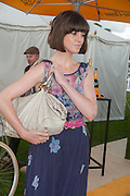 DAWN PORTER, The Veuve Clicquot Gold Cup Final.<br /> Cowdray Park Polo Club, Midhurst, , West Sussex. 15 July 2012.
