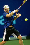 IRVING, TX - JULY 10:  Alex Bogomolov Jr. of the Texas Wild returns the ball during a mens singles match against Kevin Anderson of the Washington Kastles on July 10, 2013 at the Four Seasons Resort and Club in Irving, Texas.  (Photo by Cooper Neill/Getty Images) *** Local Caption *** Alex Bogomolov Jr.