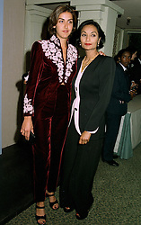 Left to right, MISS NATASHA CAINE and her mother MRS MICHAEL CAINE wife of the actor, at a reception in London on 12th June 1997.LZH 14
