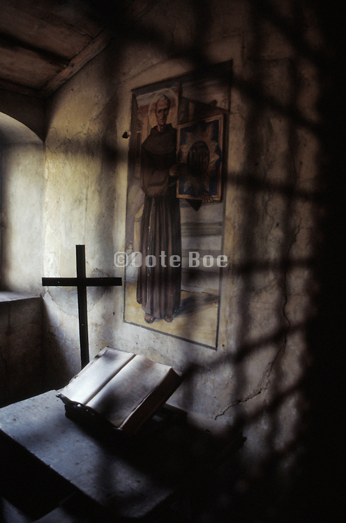 interior of monk's cell in a monastery