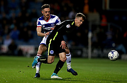 Solly March of Brighton & Hove Albion takes on Jack Robinson of Queens Park Rangers - Mandatory by-line: Robbie Stephenson/JMP - 07/04/2017 - FOOTBALL - Loftus Road - Queens Park Rangers, England - Queens Park Rangers v Brighton and Hove Albion - Sky Bet Championship