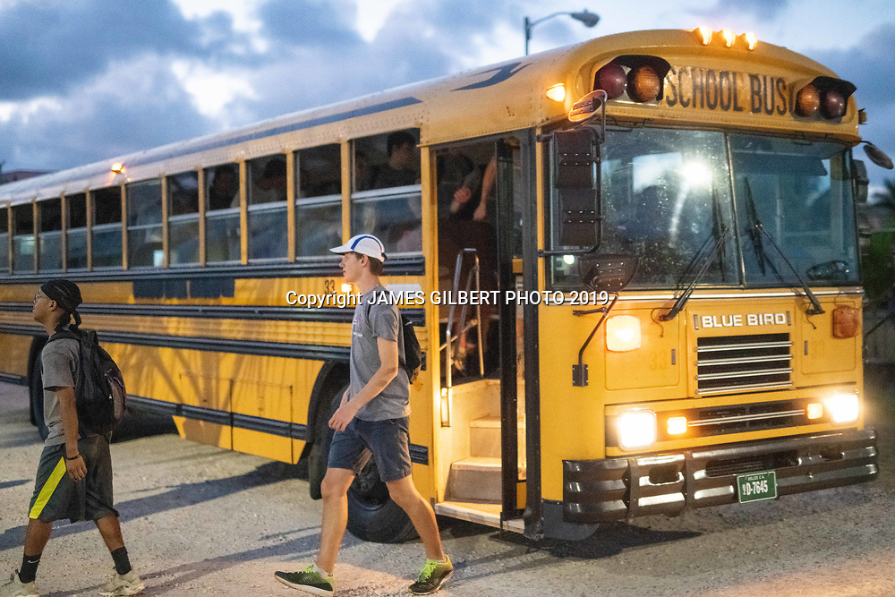 Kenyon Graham <br /> Frank Palmieri <br /> <br /> St Joe mission trip to Belize 2019. JAMES GILBERT PHOTO 2019