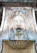 Fountain Mascaron, on Via Giulia, Rome, Italy.
