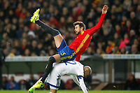 Spain's Gerard Pique (t) and Israel's Tal Ben Chaim during FIFA World Cup 2018 Qualifying Round match. March 24,2017.(ALTERPHOTOS/Acero)