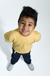 Young boy smiling,