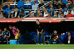 June 10, 2019 - Madrid, MADRID, SPAIN - Robert Moreno, coach of Spain, during the 2020 UEFA European Championships group F, European Qualifiers, played between Spain and Sweden at Santiago Bernabeu Stadium in Madrid, Spain, on June 10, 2019. (Credit Image: © AFP7 via ZUMA Wire)