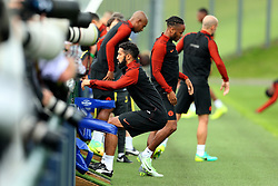 Gael Clichy of Manchester City uses warm up equipment at the City Football Academy - Mandatory by-line: Matt McNulty/JMP - 12/09/2016 - FOOTBALL - Manchester City - Training session ahead of Champions League Group C match against Borussia Monchengladbach
