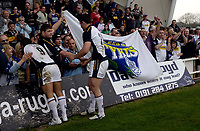 Photo: Jed Wee.<br />Newcastle Falcons v Leeds Tykes. Guinness Premiership. 06/05/2006.<br /><br />Leeds players acknowledge their fans at the end of the game.
