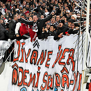 Besiktas's Supporters fans during their Turkish superleague soccer match Besiktas between Fenerbahce at the BJK Inonu Stadium in Istanbul Turkey on Saturday, 03 March 2013. Photo by Aykut AKICI/TURKPIX