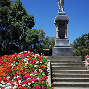 The war memorial in the grounds of Christ Church Cathedral, the Anglican cathedral in Nelson. The cathedral is located at upper Trafalgar Street. Nelson,  New Zealand,1st February 2011. Photo Tim Clayton