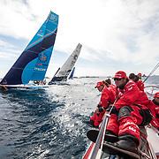 Leg 01, Alicante to Lisbon, day 01, Start on board MAPFRE. Photo by Ugo Fonolla/Volvo Ocean Race. 22 October, 2017