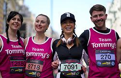 Amanda Holden with Team Tommy's during the 2019 London Landmarks Half Marathon.