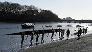 """Putney. London,  Great Britain.<br /> """"Messing about on the River"""" OUWBC, boating for a training outing.<br /> 2016 Tideway Week, Putney. Putney Embankment, Championship Course. River Thames.<br /> <br /> Friday  25/03/2016 <br /> <br /> [Mandatory Credit; Peter SPURRIER/Intersport-images][Mandatory Credit; Peter SPURRIER/Intersport-images]"""