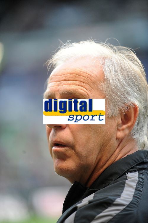 FOOTBALL - FRENCH CHAMPIONSHIP 2011/2012 - L1 - STADE RENNAIS v MONTPELLIER HSC - 7/05/2012 - PHOTO PASCAL ALLEE / DPPI - RENE GIRARD (MONTPELLIER COACH)