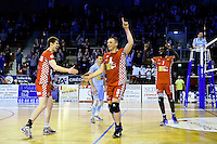 Joie Beauvais - Gert VAN WALLE / Frank DEPESTELE / Gary GENDREY (balle de match)  - 19.12.2014 - Beauvais / Saint Nazaire - 12e journee de Ligue A<br />